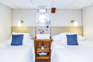 Deux lits confortables dans un statet Nautilus Explorer