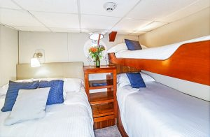 Stateroom H onboard the Nautilus Explorer is an affordable triple occupancy stateroom