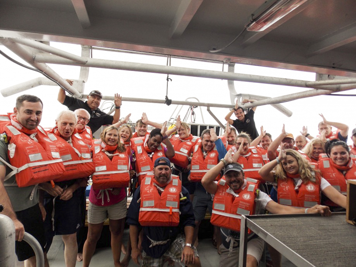 Group Shot on the Nautilus Explorer