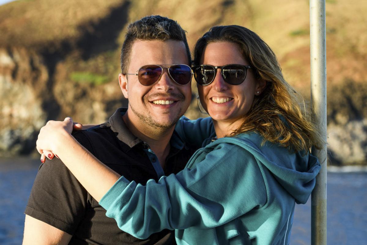 Happy honeymooners in Socorro! Photo by Chuck Babbit