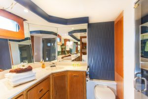Premium ensuite bathroom aboard the Gallant Lady