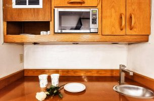 Premium Emerald suite kitchenette
